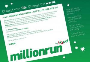 Inbjudan till Paf Millionrun den 13 juni