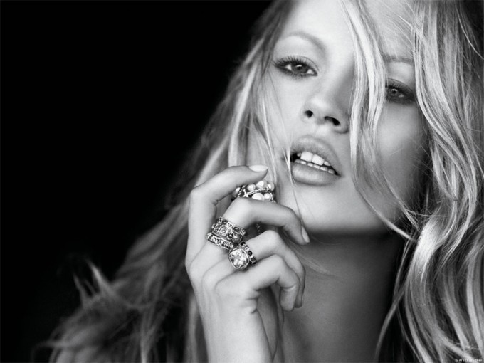 Kate Moss black and white