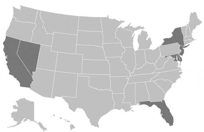 Imålad karta USA klar